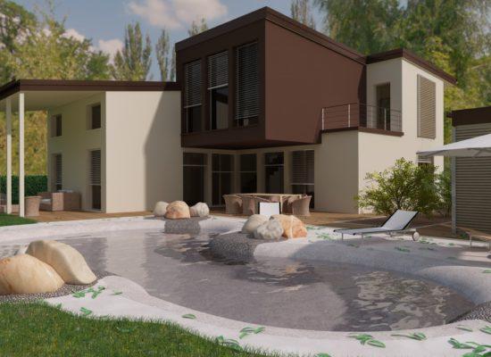 Costruzione di villa NZEB a Pontegradella